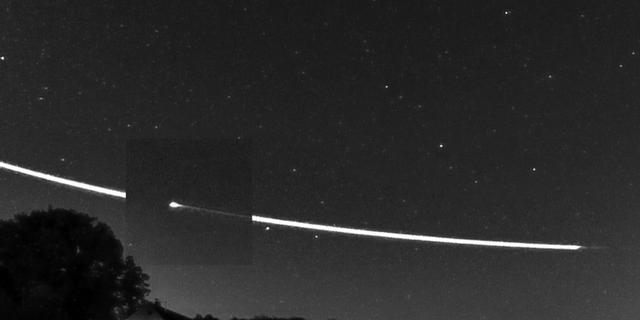 Langs de aarde scherende meteoor vloog dinsdag zeer laag over Nederland