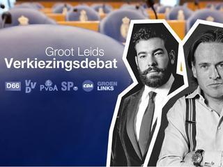 Debat georganiseerd door de vijf grote studentenverenigingen van Leiden