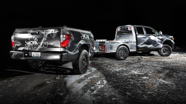 Nissan toont pickup truck met ingebouwde barbecue