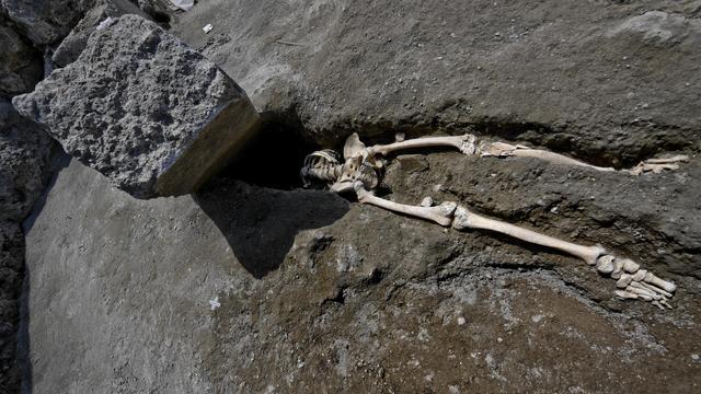 Lichaam onthoofde man Pompeï gevonden bij opgravingen