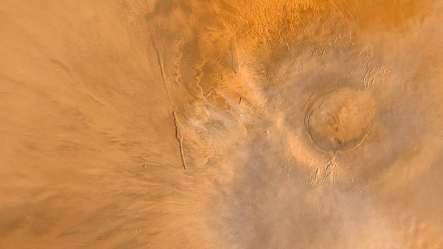 'Vulkanen op Mars waren miljarden jaren actief'