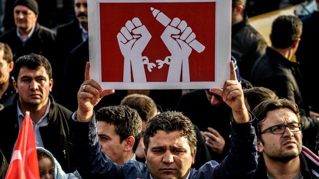 Proces tegen Turkse journalisten gaat verder achter gesloten deuren