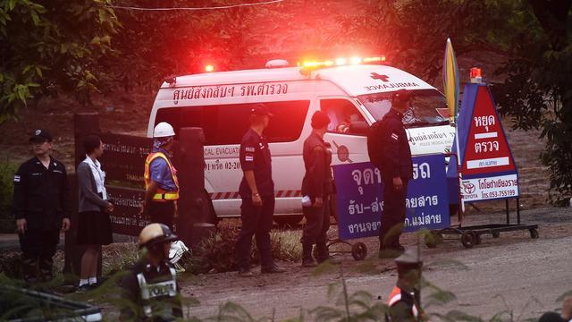 Vier jongens bevrijd uit grot in Thailand