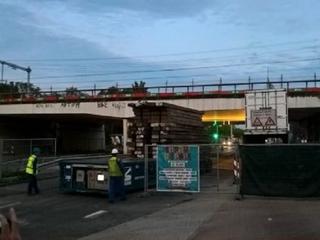 Treinviaduct is weer stabiel