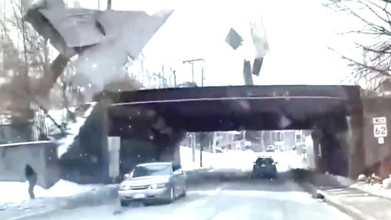 Harde wind blaast dak van gebouw in Massachusetts