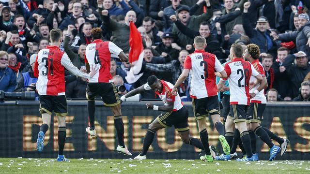 Bekerfinale tussen Feyenoord en FC Utrecht trekt ruim 2,6 miljoen kijkers