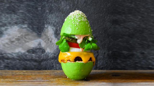 Deze avocadoburger is om te watertanden