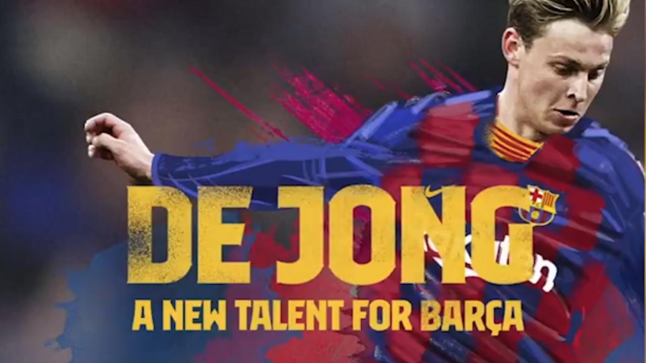 FC Barcelona vergelijkt De Jong met Cruijff in aankondiging presentatie