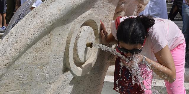 Drinkfonteintjes in Rome gesloten door extreme droogte