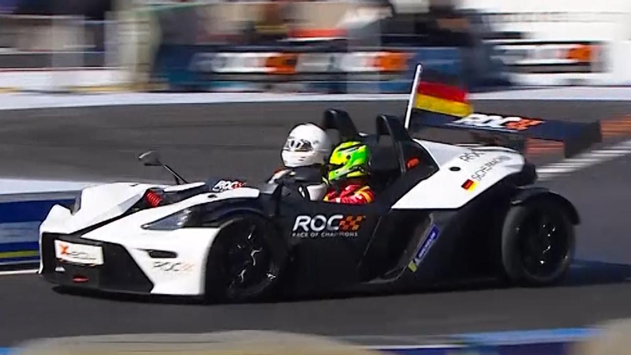 Mick Schumacher verslaat Vettel tijdens Race of Champions