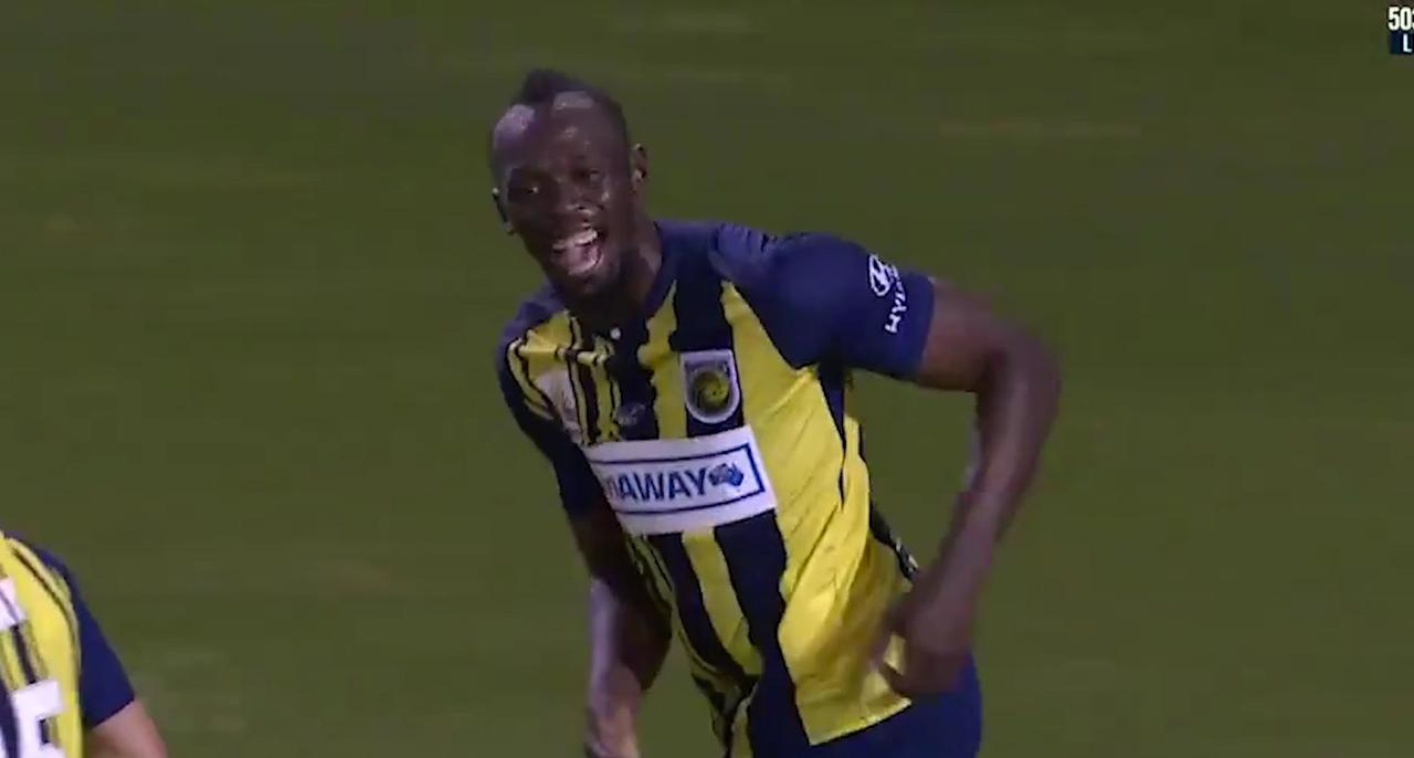 Usain Bolt maakt eerste goals voor Central Coast Mariners