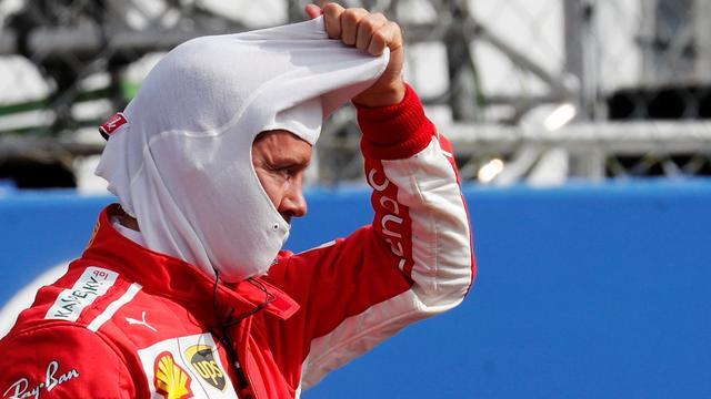 Vettel wijt spin in eerste ronde Grand Prix Italië aan Hamilton
