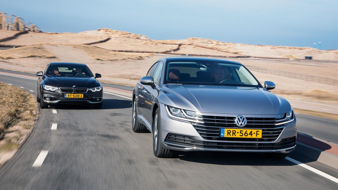 Eerste dubbeltest: Volkswagen Arteon tegen de BMW 4 Serie