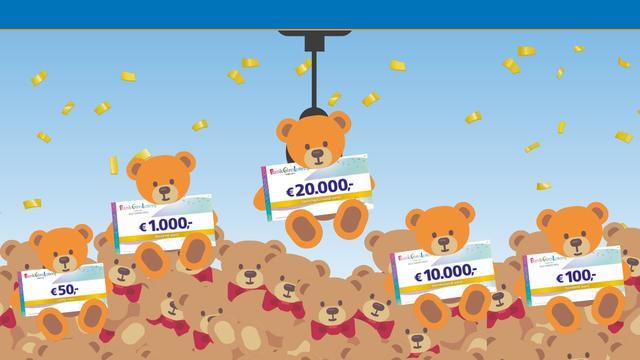 Zie of jouw beertje 20.000 euro waard is in de BankGiro Loterij