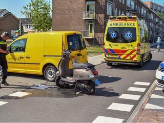Scooter heeft flinke schade opgelopen