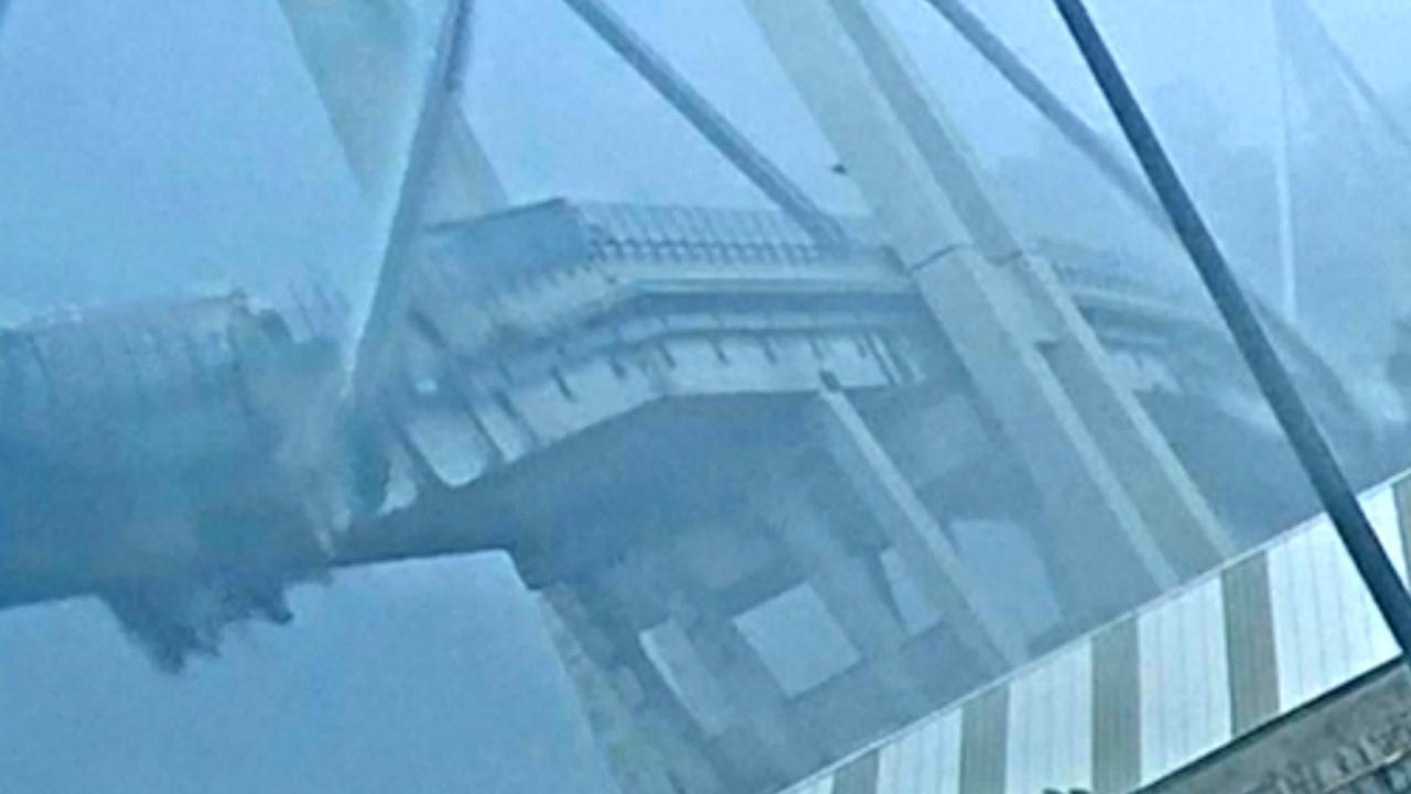 Italiaanse politie deelt nieuwe beelden van instorten brug Genua
