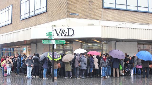 Zes filialen V&D sluiten deuren vrijdag definitief