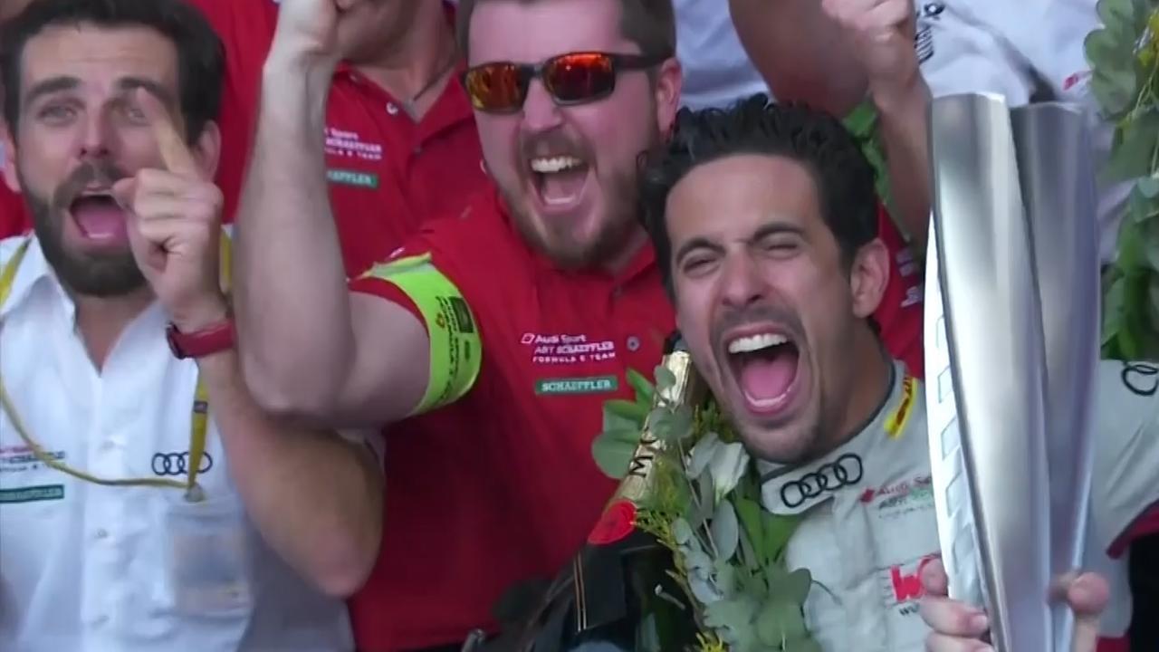 Di Grassi wint e-Prix van Mexico door inhaalactie in laatste meters