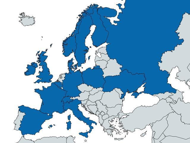Landen met Apple Pay in blauw