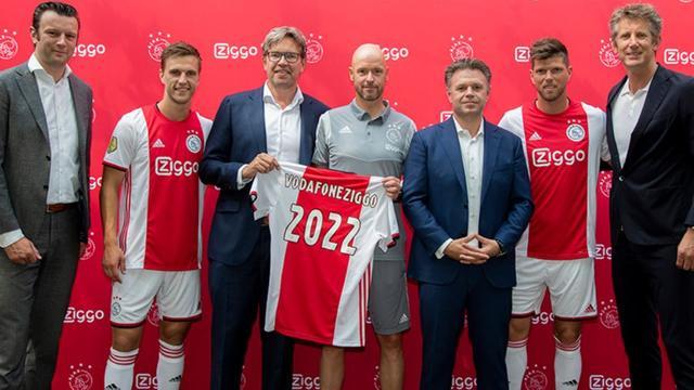 Ajax verlengt contract met hoofdsponsor Ziggo met twee jaar