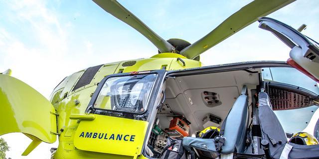 Traumahelikopter verhuisd van dak UMCG naar Airport Eelde