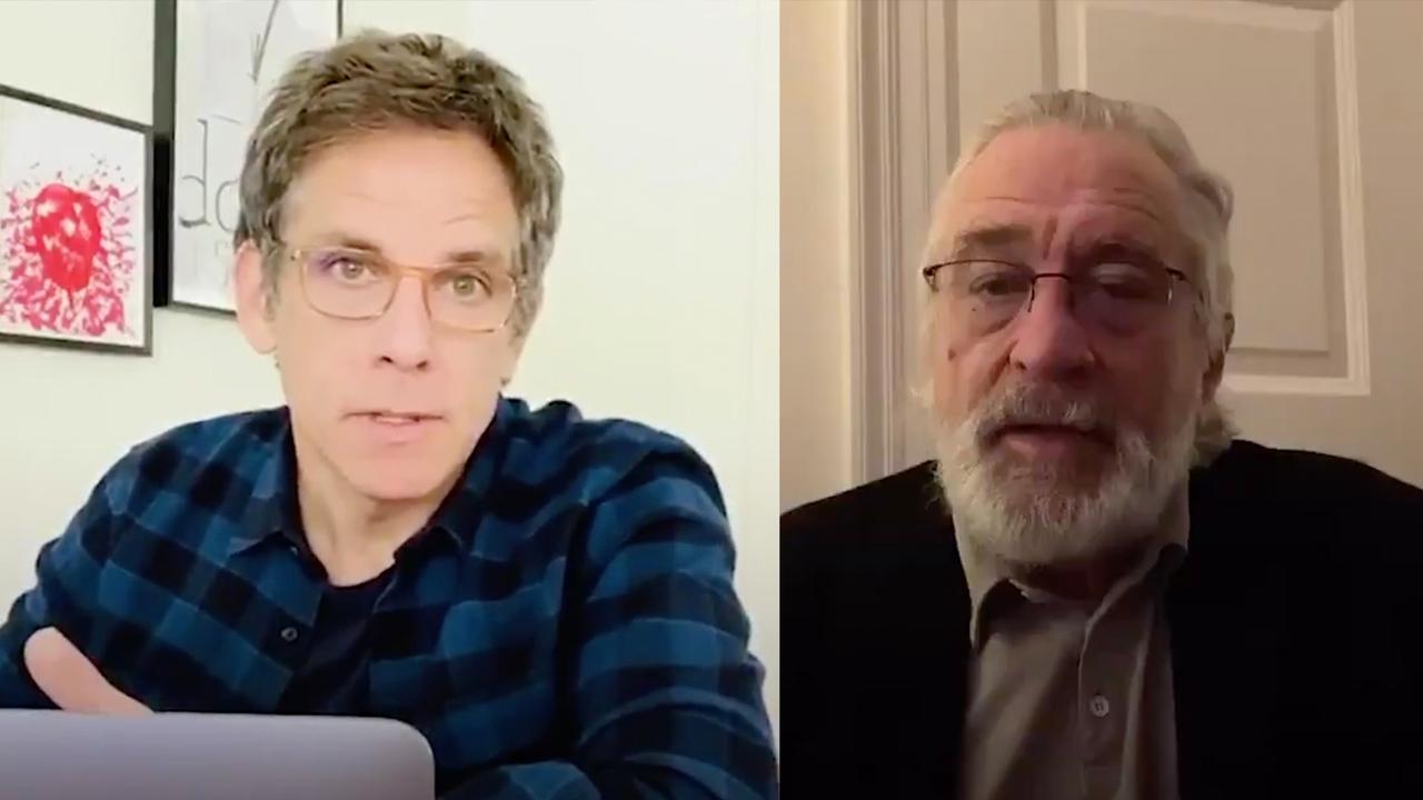 Robert De Niro en Ben Stiller roepen mensen op om thuis te blijven