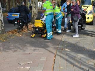 Slachtoffers per ambulance overgebracht naar ziekenhuis
