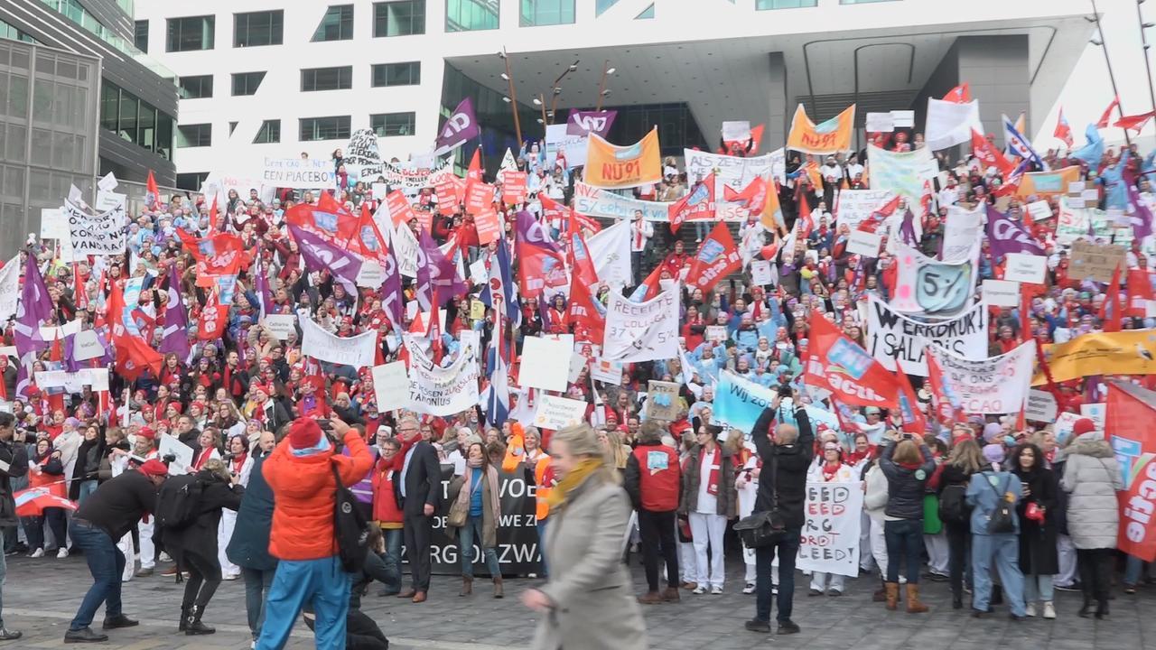 Utrecht overspoeld door duizenden verpleegkundigen