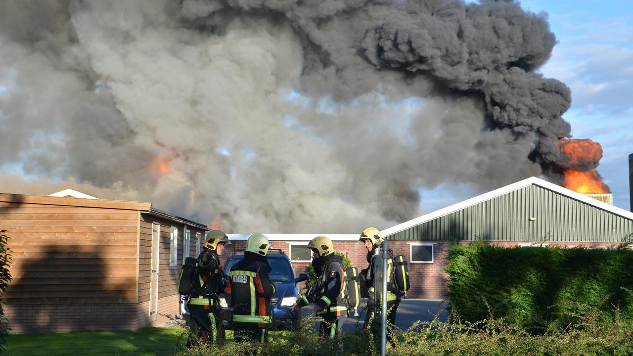 Tienduizenden kippen komen om door grote brand in Waddinxveen