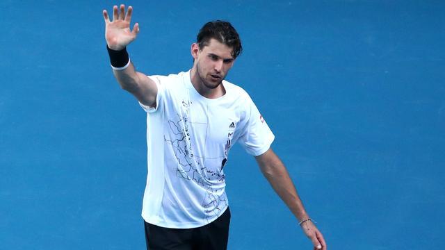 Dominic Thiem staat in de derde ronde van de Australian Open.