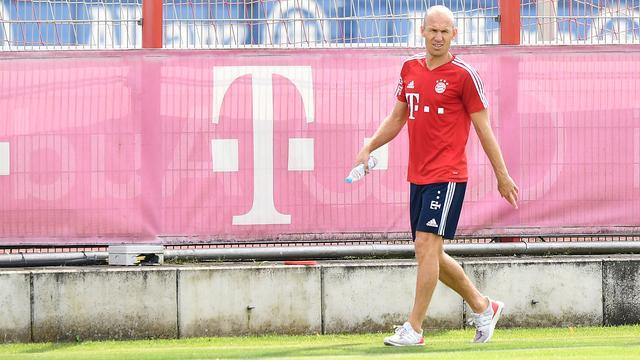 Robben op lange blessurelijst Bayern voor Duitse Super Cup