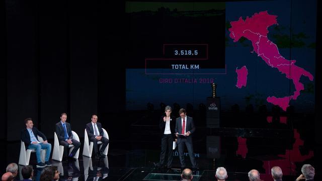Etappeschema Giro 2019