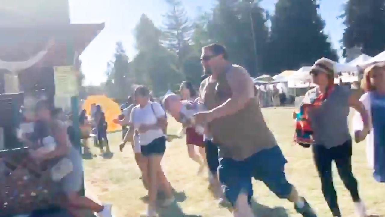 Californische festivalgangers rennen weg na horen van schoten