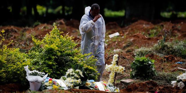 Opnieuw recordaantal doden in Brazilië ondanks stabilisatie besmettingen
