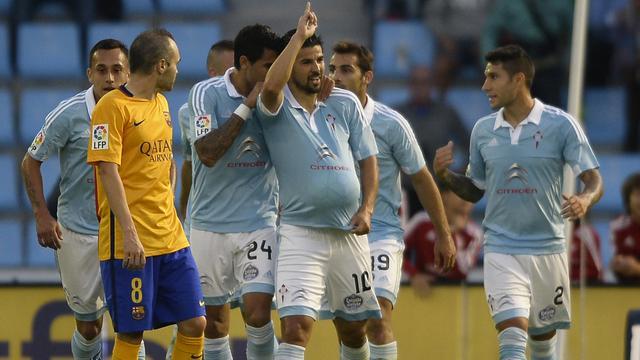 Celta samen met Real en Villarreal aan kop na zege op Barcelona
