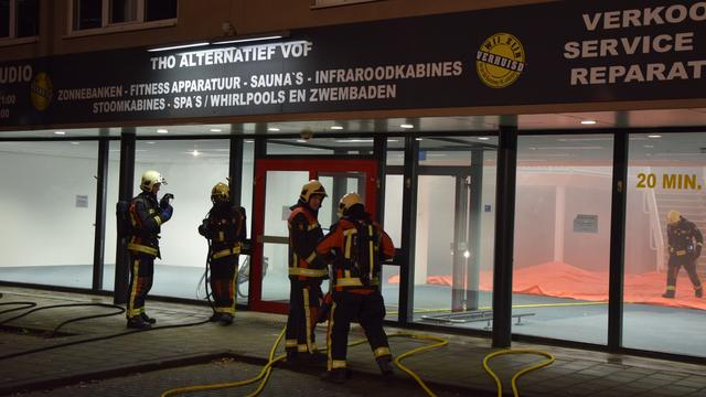 Brandweer oefent in Leiderdorp