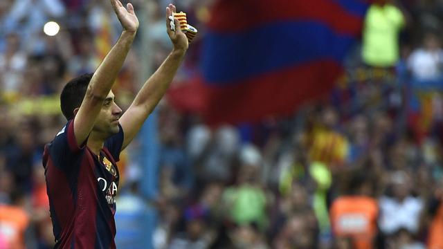 Xavi 'gelukkigste man op aarde' na afscheid bij Barcelona