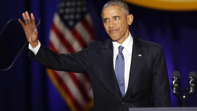 Obama pleit in afscheidsspeech voor beschermen democratie