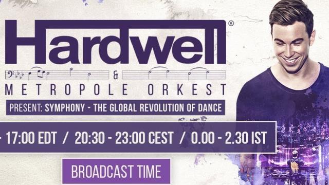 Live Stream: Hardwell draait samen met Metropole Orkest: Global Revolution of Dance