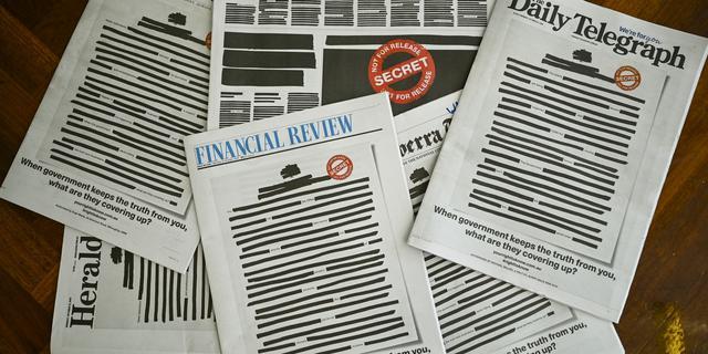 Australische kranten 'geblokt' uit protest tegen beknotting persvrijheid