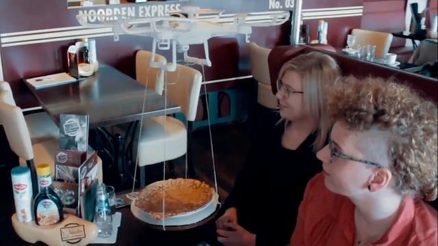 Nederlands restaurant laat drone pannenkoeken bezorgen
