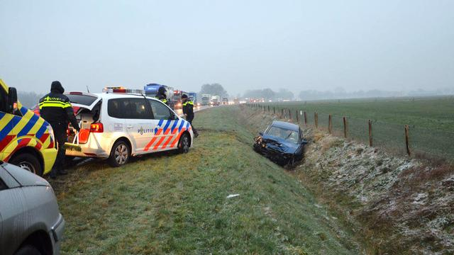 Tientallen ongelukken door ijzel in het noorden.