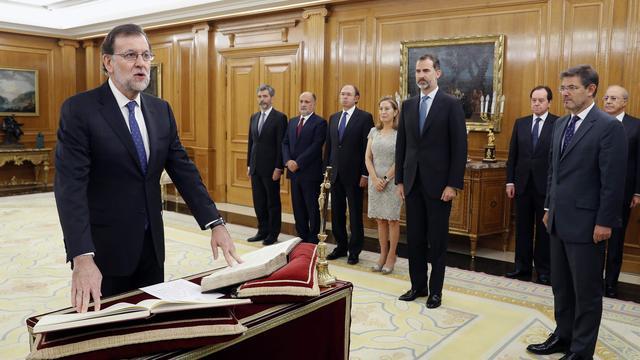 Rajoy voor tweede keer premier Spanje