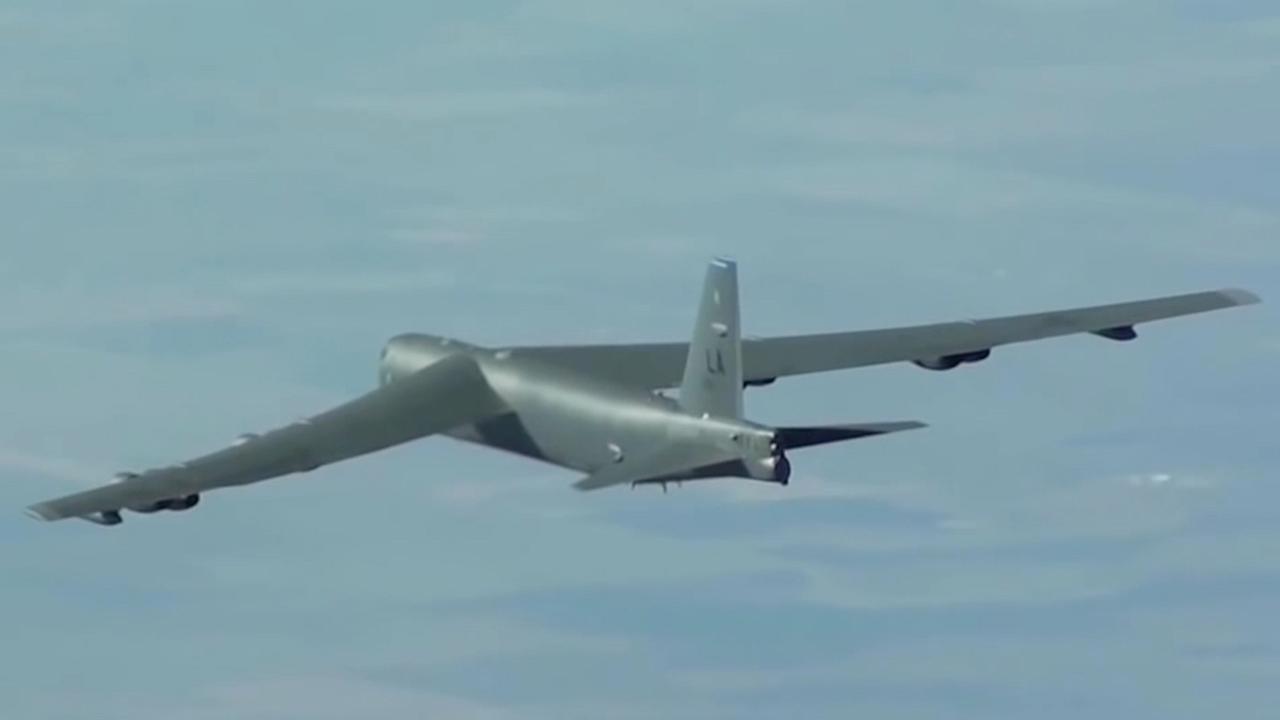 Beelden van een B-52