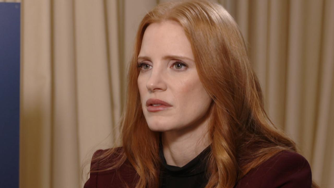 Jessica Chastain wil in film krachtig overkomen in 'mannenwereld'