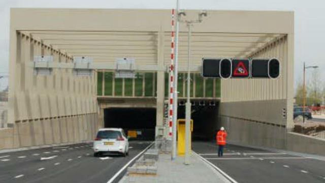 Stadsbaantunnel in Utrecht afgesloten vanwege onderhoudswerkzaamheden