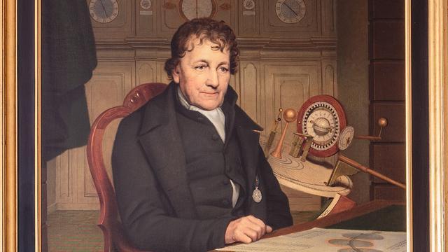Portret van Eise Eisinga door Willem Bartel van der Kooi, 1827.