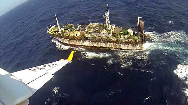 Argentijnse kustwacht brengt Chinees vissersschip tot zinken