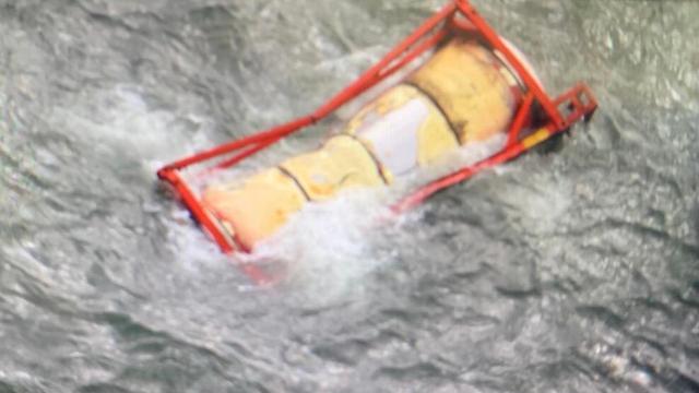 Een van de verloren containers van de Baltic Tern.