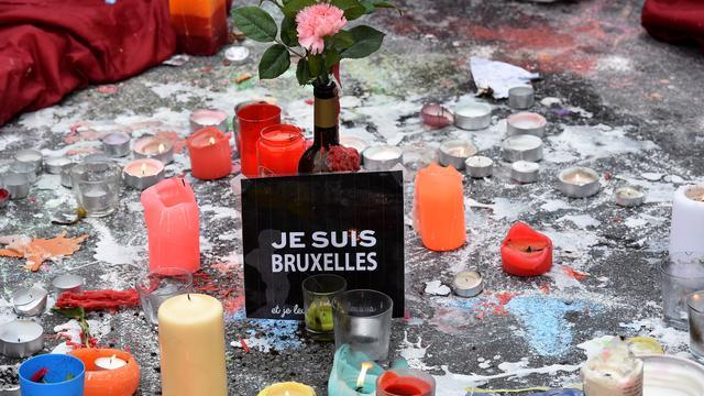 Fotobericht: Herdenking slachtoffers aanslagen Brussel